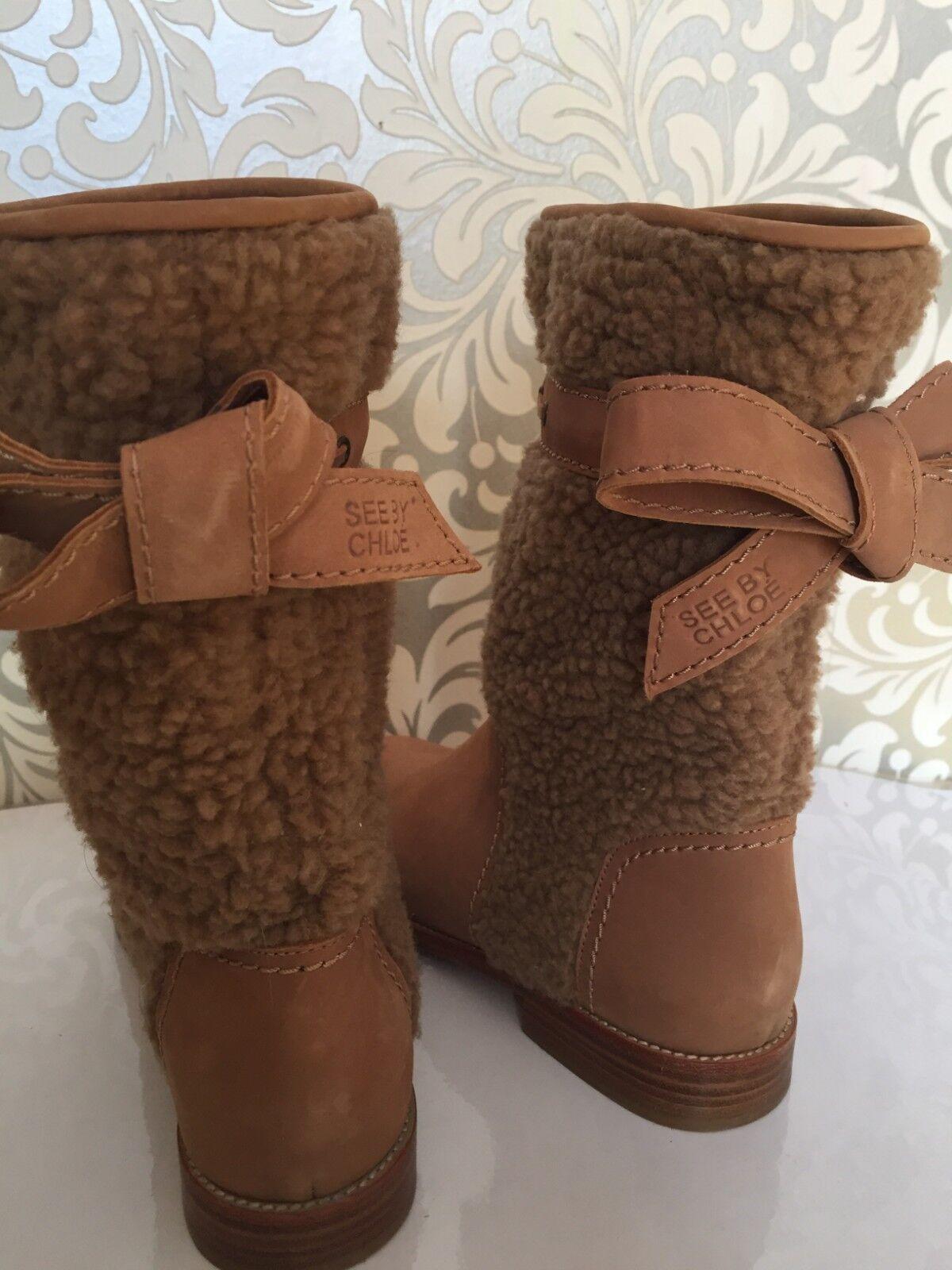 See by Chloé Echt Echt Echt Leder botas de cuero talla 36  salida de fábrica