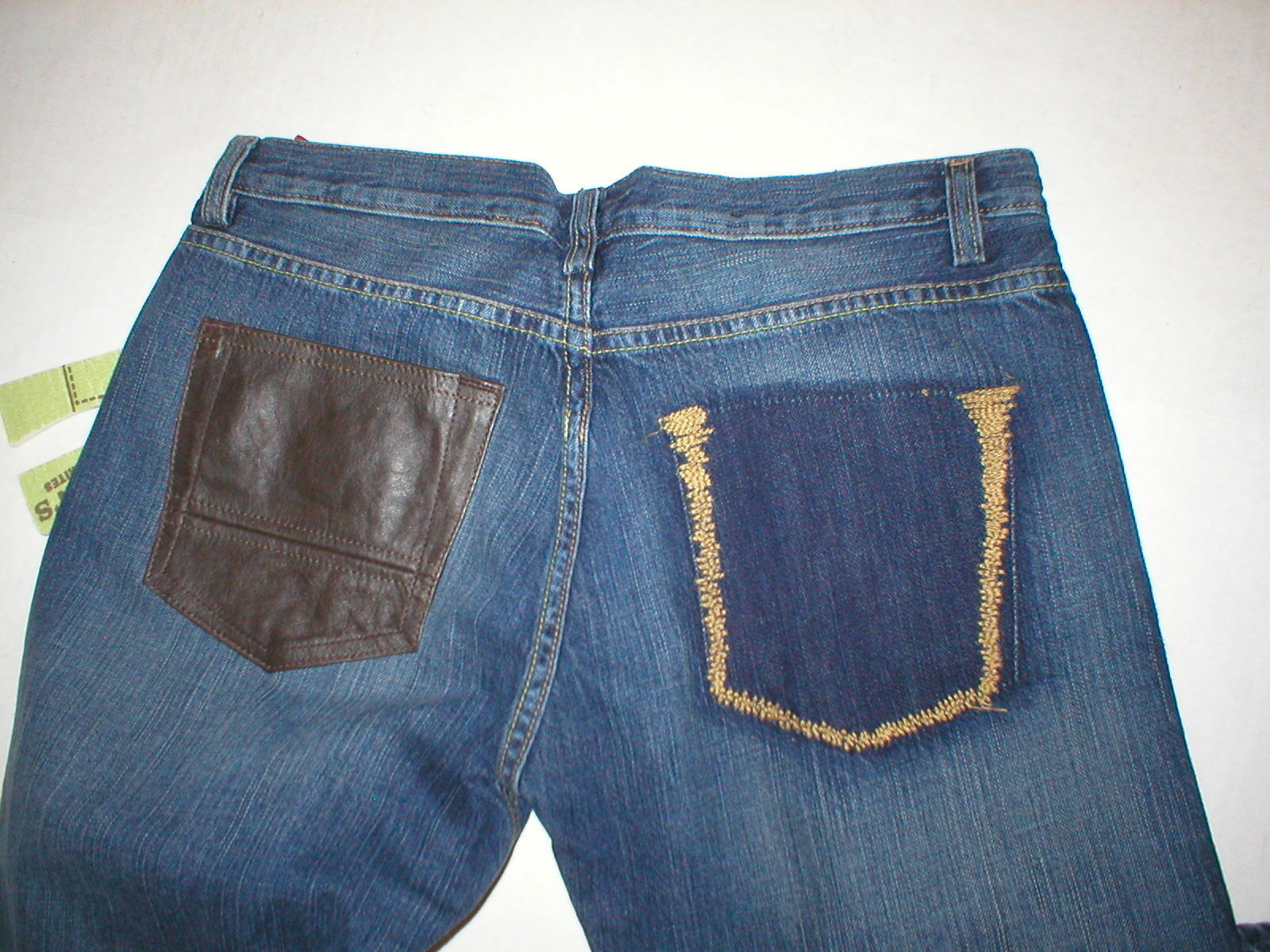 New Womens NWT Designer Mason's Woman Rites Jeans 44 8 Boot Leather Tall Europe
