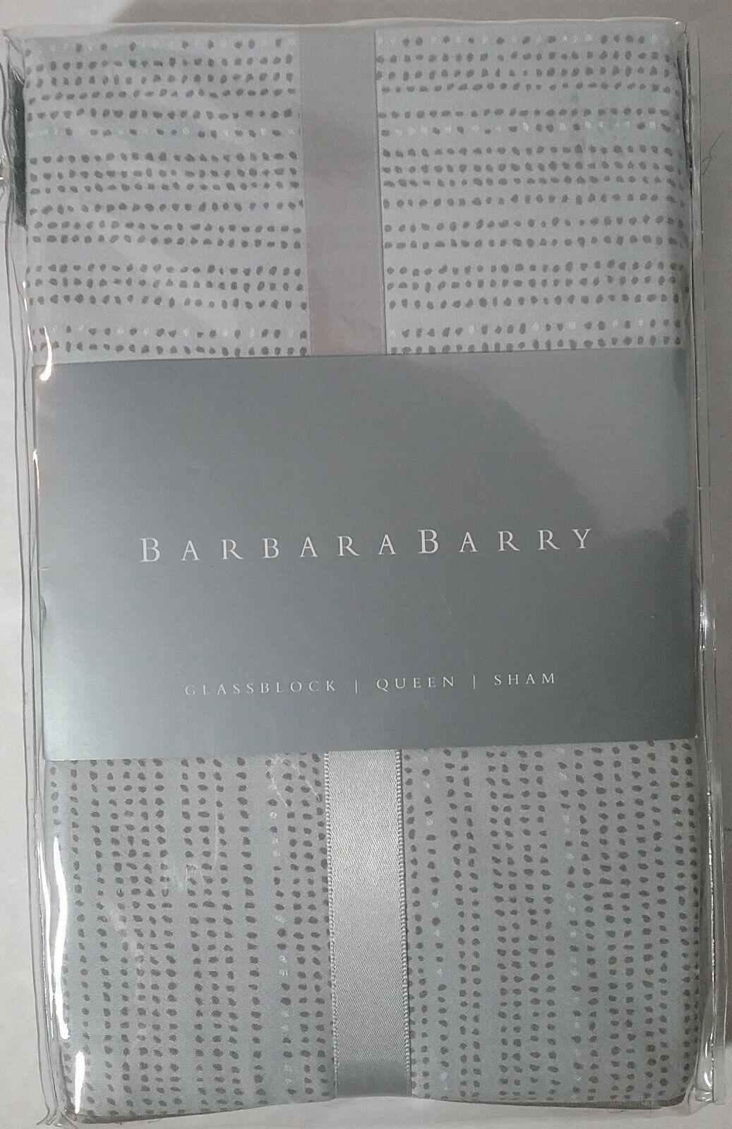 Details about  /BARBARA BARRY Glassblock  Mercury Standard Queen PILLOW SHAM Silver Taupe