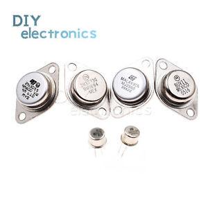 Transistors-2N3055-2N3773-MJ2955-BUV11-TO-3-2N5109-2N2219-TO-39-Lron-Cap-US