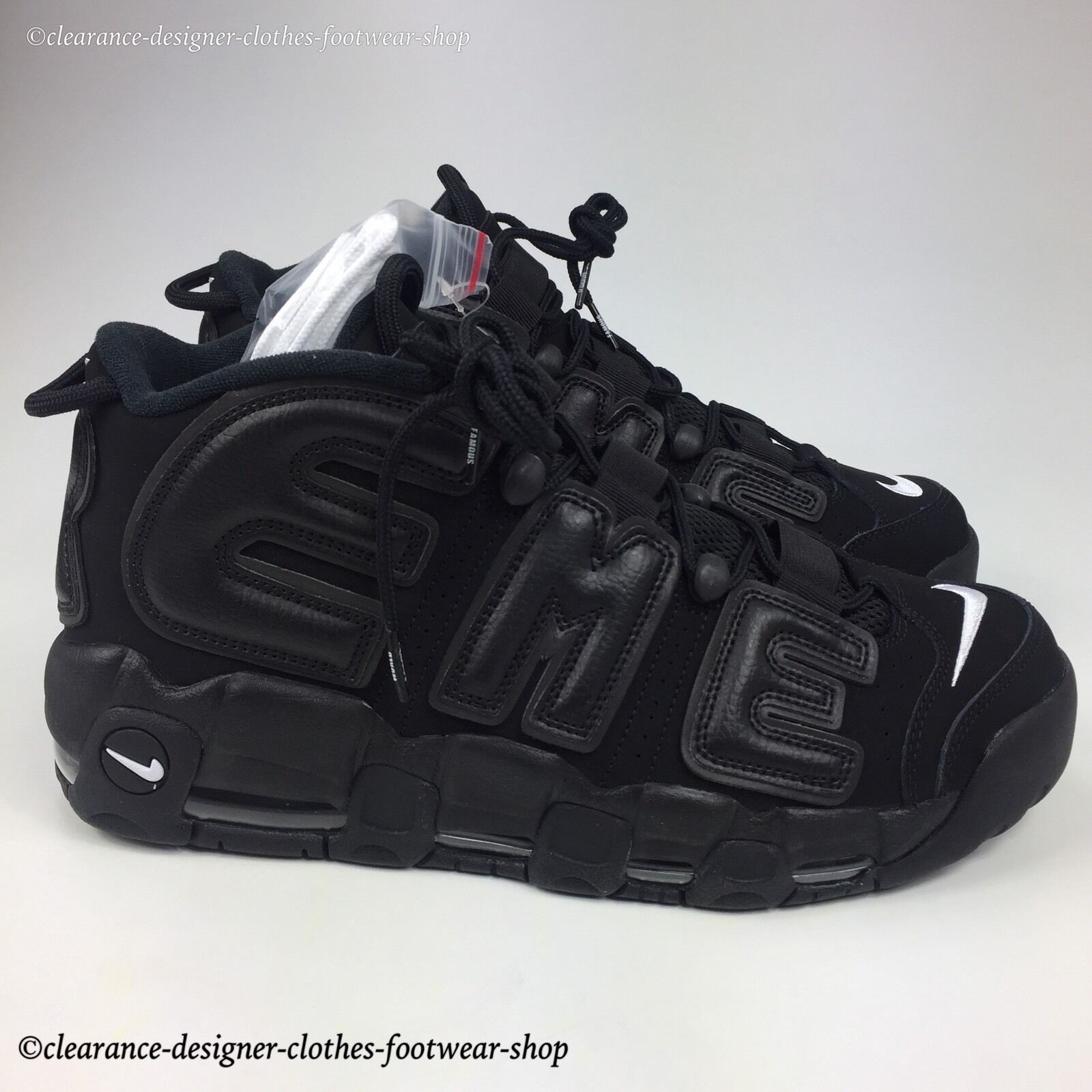 SUPREME X NIKE TRAINERS AIR MORE UPTEMPO TRAINERS NIKE Hommes Noir  Chaussures 10 8d2e57