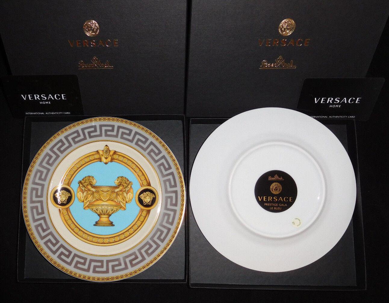 Rosenthal versace prestige Gala Bleu ² 2 x brougeteller 18 cm NOUVEAU & OVP 1. choix