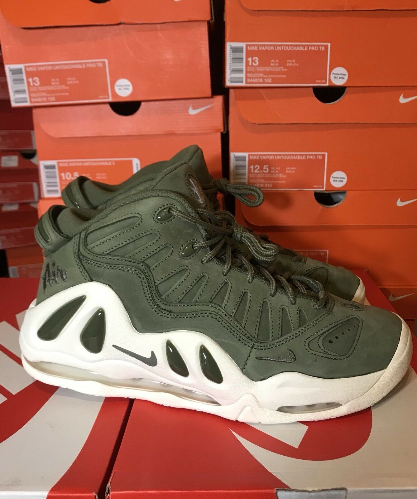 Nike Air Max Uptempo 97 Urban Haze White Scottie Pippen sz Size 10  399207-300