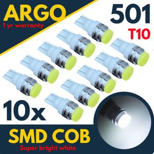 501-LED-Interieur-Feu-Lateral-Ampoules-T10-Xenon-Super-Blanc-W5w-SMD-Clignotant