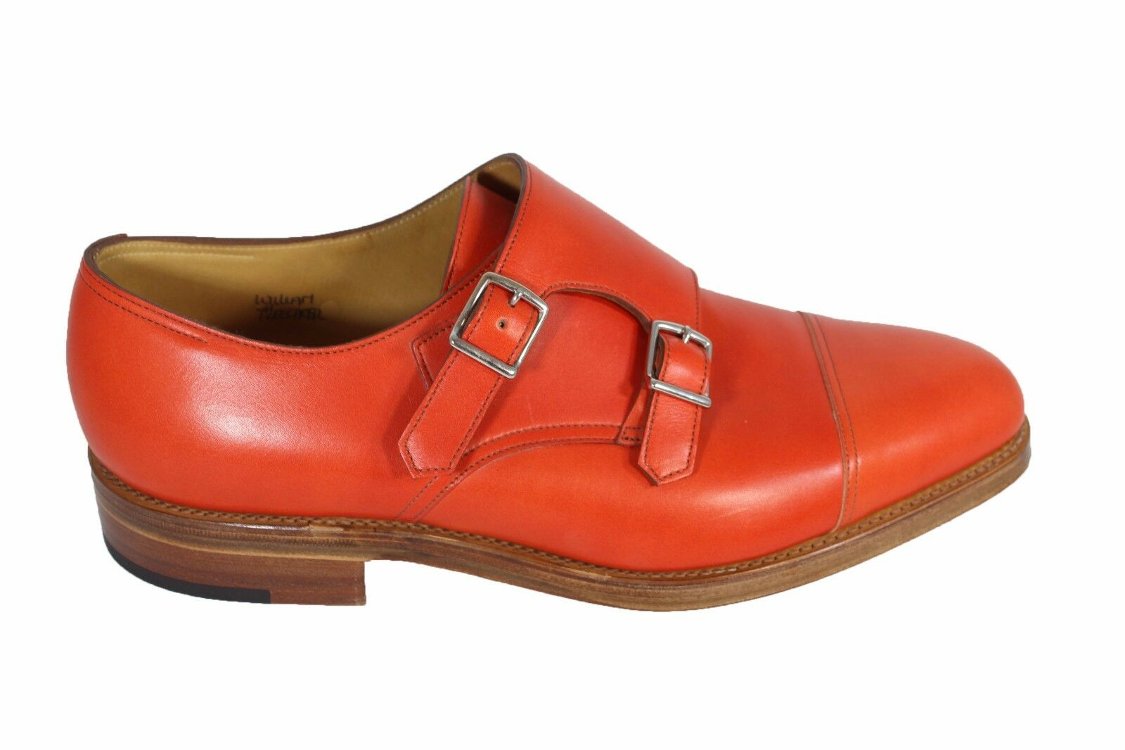 JOHN LOBB William leather monk strap con scarpe eleganti in pelle con strap suola in cuoio ed8d8e