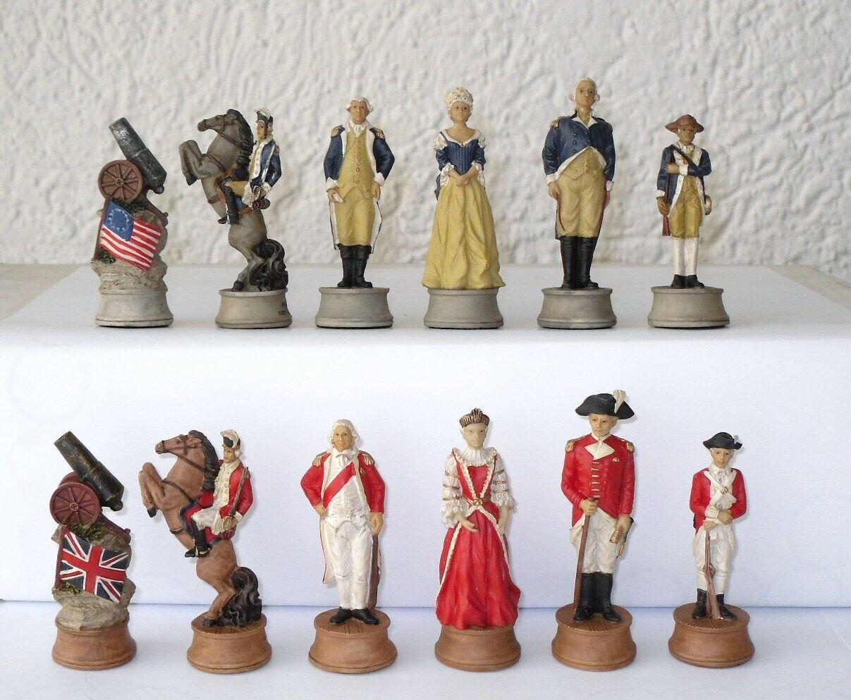 descuento de bajo precio Piezas de de de ajedrez inglaterra vs. américa ajedrez  en linea