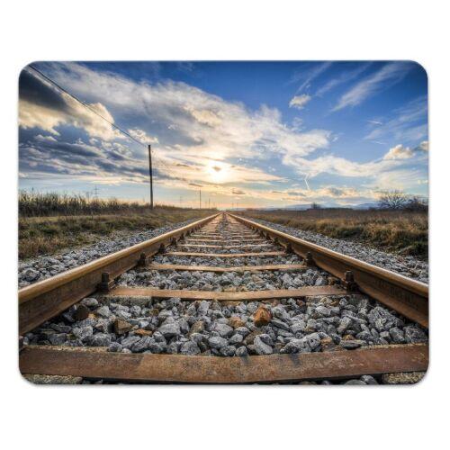 "24x19cm Gleise Amerika Mousepad /""Railway/"" Schienen Bahn USA"