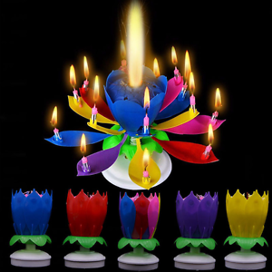 Image Is Loading Music Party Surprised Birthday Candle Magic Lotus Flower