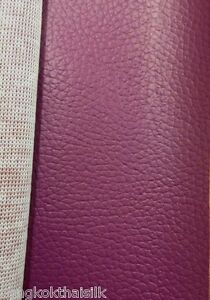 DARK-PINK-FAUX-LEATHER-SOFT-FABRIC-for-UPHOLSTERY-SEAT-STOOL-BOOK-JACKET-BTY