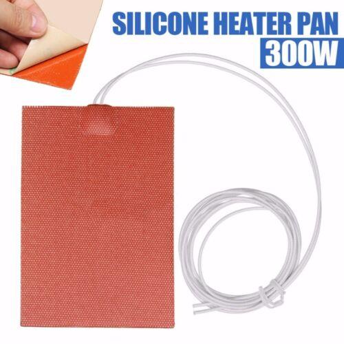 300W 220V 10x15cm Heizmatte Silikon Heizbett Pad Wärmematte Für 3D Drucker