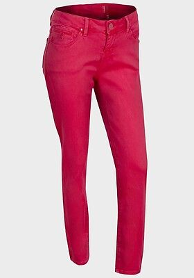 EX NEW LOOK Supersoft Red Ladies Jeans New RRP £20 Low Waisted Skinny Fit