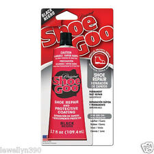 3.7oz Shoe Goo BLACK  Adhesive Glue Leather Rubber Vinyl BLACK  NEW!!