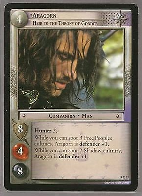 LOTR TCG Treachery /& Deceit RARE 18R38 Aragorn Heir To Throne Gondor