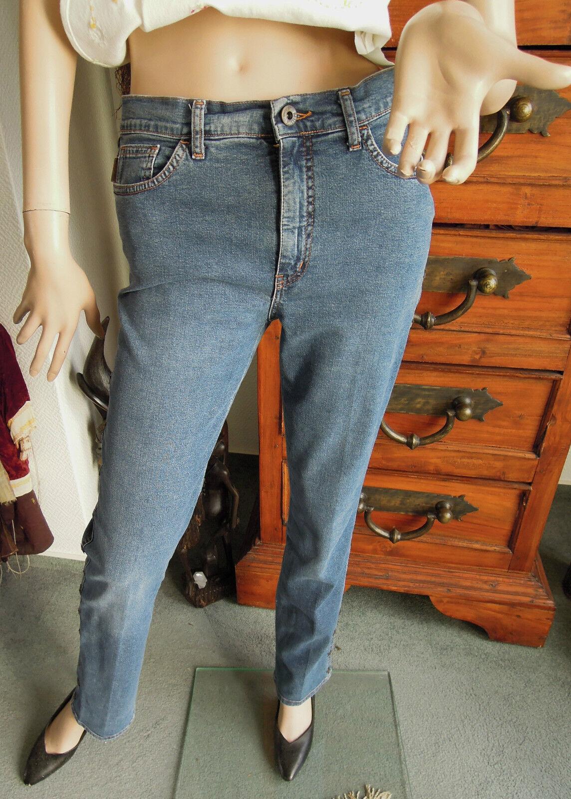 Moschino Jeans Gr.36 Gr.38 blau Logo Sterne bronce zeitlos und edel Must Have