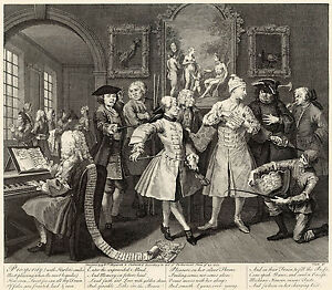 #2 A Rake/'s Progress Hogarth Print Reproduction Fine Art Print With Artists