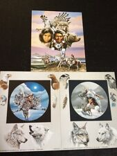 """3- 8"""" X 10"""" Native American Collages Picture Prints Ready To Frame In Lithograph"""