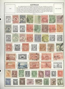 Over-2750-Australian-stamps-mounted-on-pages-Free-Shipping