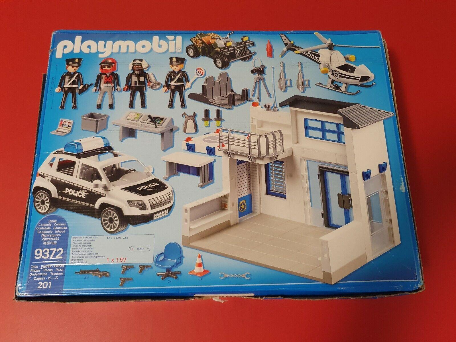 Playmobil Polizeistation 9372 -neuwertig- TOP