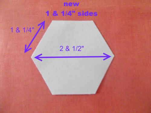 1000 LASER CUT HEXAGON PATCHWORK PAPER TEMPLATES 1 /& 1//4 INCH SIDES EPP HEXIES