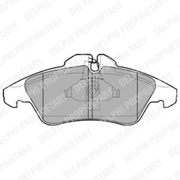 Bremsbeläge vorne für Mercedes Sprinter 901 902 903 904 Vito Bus Kasten V-Klasse