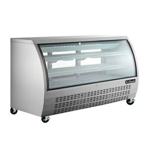 NEW-82-034-DELI-CASE-STAINLESS-GLASS-REFRIGERATOR-DISPLAY-CASE-Bakery-Pastry-MEAT