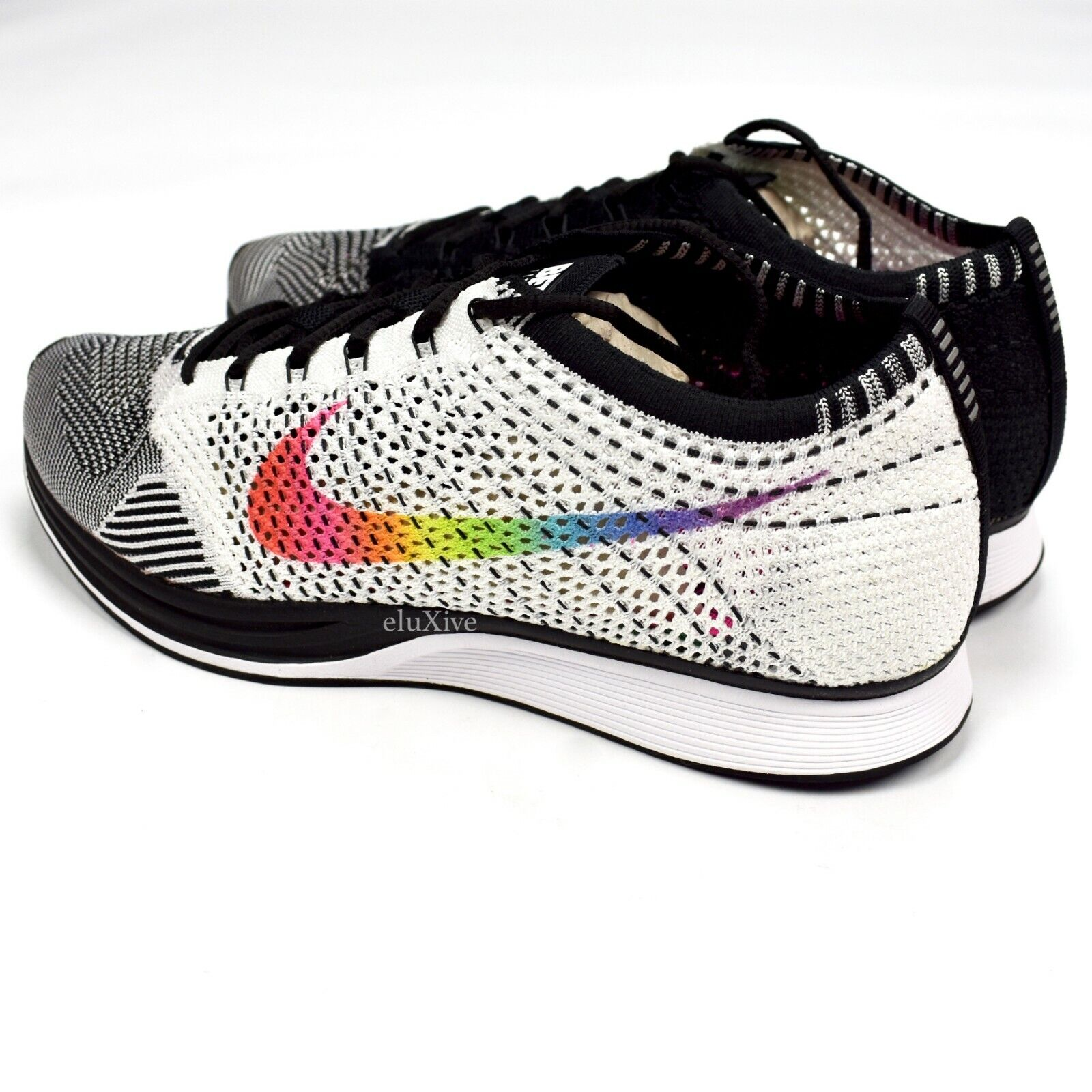 competitive price d8fb4 e1b8a ... NWT Nike Nike Nike Flyknit Racer BeTrue Rainbow Swoosh Men s Sneakers  DS 2017 AUTHENTIC d4c10c ...