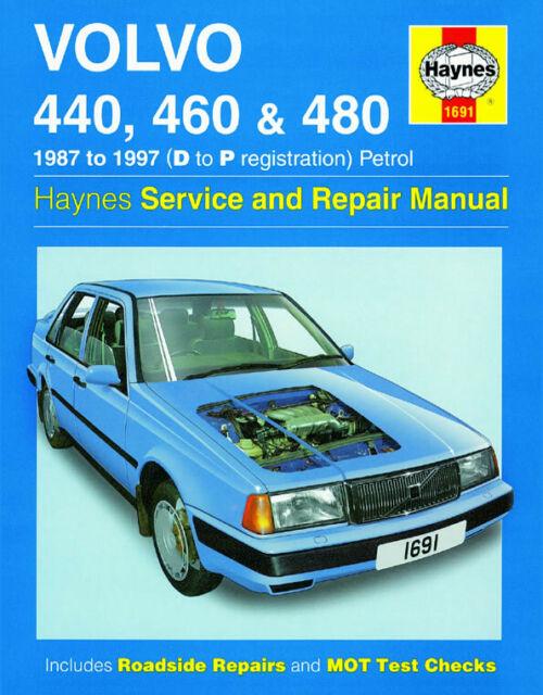 Volvo 440 460 480 1987 - 1997 1.6 1.7 1.8 2.0 Benzin Haynes Manuell 1691