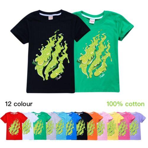 Hot PRESTONPLAYZ Flame T-Shirt  Boys Girls 100/% Cotton Casual Tee Tops Gift