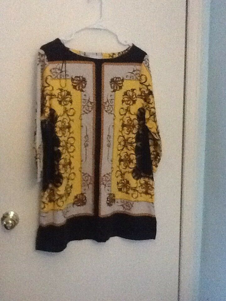 Charger Club Tuscan gold Combo OX Tunic Top 3 4 Sleeves