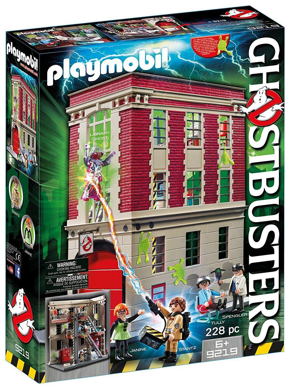 Playmobil Cazafantasmas 9219. Cuartel parque de bomberos .A partir de 6 años