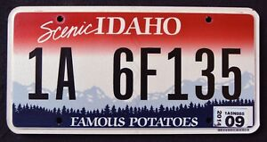 IDAHO-034-FAMOUS-POTATOES-SCENIC-034-2014-ID-Graphic-License-Plate