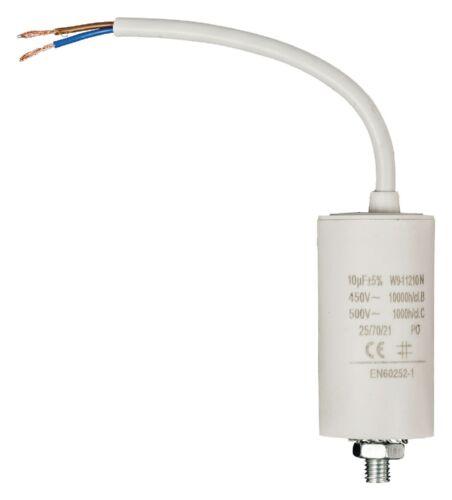 //-5/%  450V CABLE NORME EN60252 NEUF CONDENSATEUR MOTEUR ELECTRIQUE 10μF 10uF