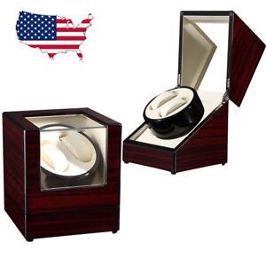 Dual-Watch-Winder-Box-Self-Winding-Automatic-Mechanical-Holder-Display-Storage