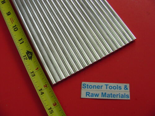 """20 pieces 1//4/"""" ALUMINUM 6061 ROUND ROD 14/"""" long T6511 Solid .25/"""" Lathe Stock"""