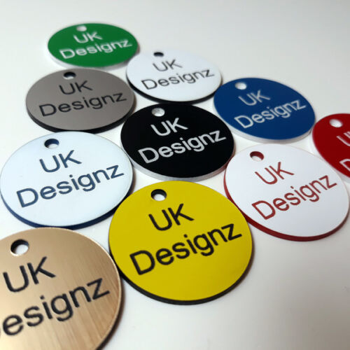 keyring discs laminate fobs various sizes and colours 1-100 numbered discs