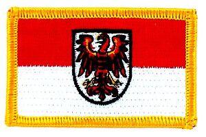 PATCH ECUSSON BRODE DRAPEAU BRANDENBURG REGION ALLEMAGNE INSIGNE NEUF FLAG q9flJNWm-09101017-221472041