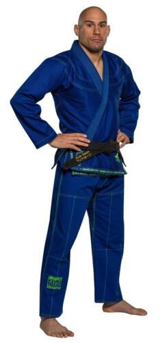 Blue w Green Fuji Suparaito Super Lightweight Mens Brazilian Jiu-Jitsu BJJ Gi