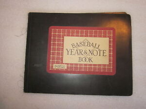 1952 Baseball Year & Note Book from Blue Book Inc.