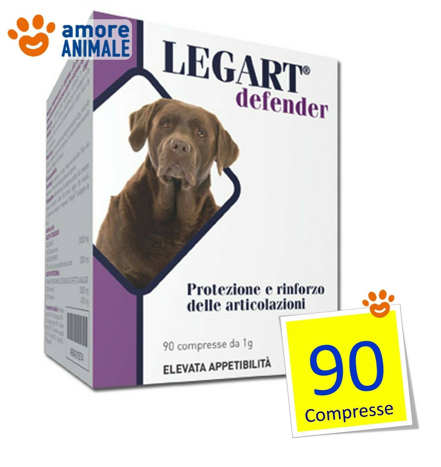 Legart Legart Legart Defender 90  240 Compresse per Cani  Prossoezione cartilagini articolari 0ba0ab