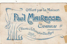 CAMBRAI verso publicité Paul Mairesse chicorée