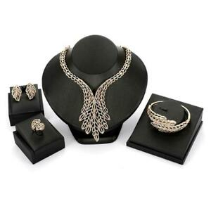 African Beads Wedding Accessories Jewelry Sets Crystal Diamond