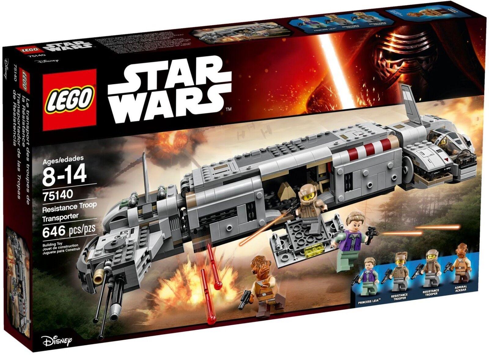 LEGO Star Wars 75140 Resistance Troop Transporter  - Brand New and Sealed