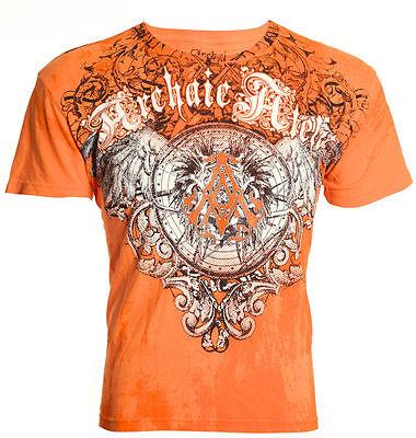 Archaic AFFLICTION Mens T-Shirt HERMETIC Wings Tattoo Biker MMA UFC M-4XL $40 b