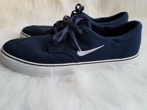 cc388b0f2638 NIKE SB CLUTCH Men s Navy Canvas Sneakers Lace Up Shoes Size 13