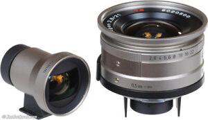 Contax-G-Carl-Zeiss-Biogon-T-21mm-F2-8-G1-G2-con-Mirino-NUOVO-mai-usato-AAAA