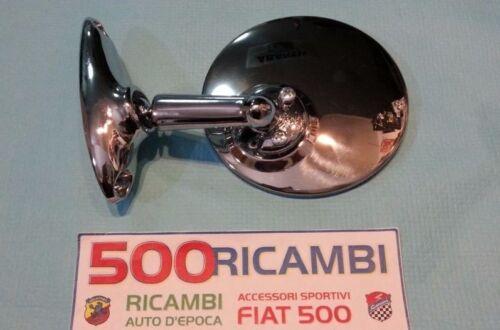 FIAT 500 F//L//R 126 SPECCHIO ROTONDO PIATTO IN METALLO CROMATO ALTISSIMA QUALITA