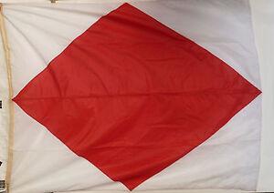Condition Fabric Nautical Naval Signal Flag Choose Size B // Bravo Flags