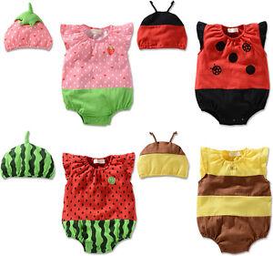 e33077077d6 Image is loading Newborn-Baby-Girls-Boys-Ladybug-Bee-Strawberry-Costume-