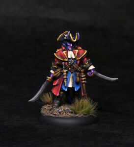 Painted-Miniature-Reaper-Tiefling-Devil-Pirate-Rogue-Fighter-for-D-amp-D-Pathfinder