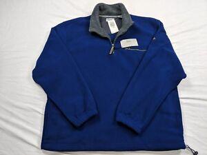 New-Mens-XL-IZOD-Blue-Macro-Polar-Fleece-1-2-Zip-Front
